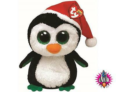 Ty Beanie Buddies Buddy Igloo The Christmas Penguin Soft Toy New With Tags