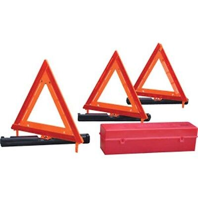 Triple Triangle Warning Kit USA Made Truck DOT Safety Roadside Highway Emergency