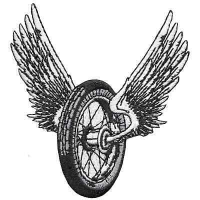 LOWBROW CUSTOMS WINGED Motorcycle Wheel Patch