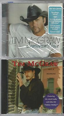 TIM McGRAW Southern Voice + NOT A MOMENT TOO SOON 2 CD's NEW / SEALED 2009 Curb