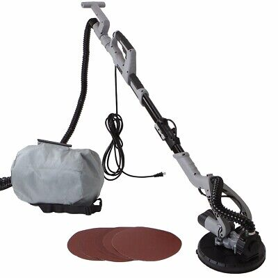 Electric Drywall Sander Telescoping Sanding 750W Variable Speed Dustless Vacuum