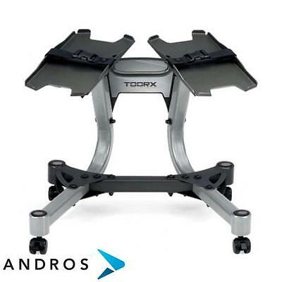 TOORX Stand for 2 adjustable weight dumbbell