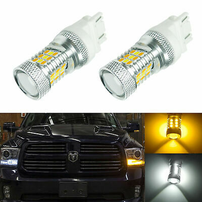 High Power 3157 Switchback White Amber 31-SMD LED Bulbs Front Turn Signal Lights