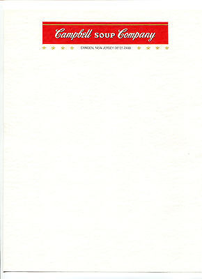 Color Illustrated Letterhead CAMPBELL SOUP CO Camden NJ unused