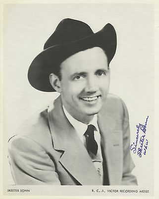 Skeeter Bonn Signed RCA Publicity Photo - Grand Ole Opry Scrapbook Collection
