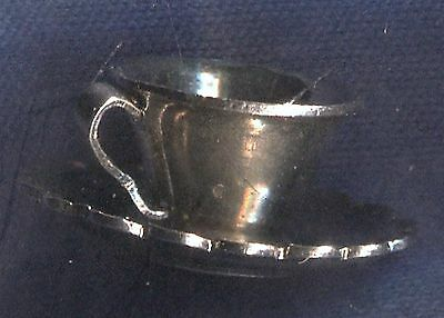 Vintage P & b Sterling Teacup Cup of Coffee or Tea Charm (3D-E)
