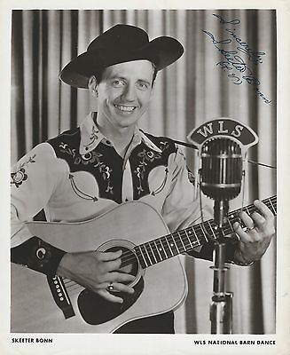 Skeeter Bonn Signed WLS Publicity Photo - Grand Ole Opry Scrapbook Collection