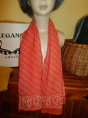 1 NEW Colourful Mixed Fibre Ladies Diagonal Candy Stripe Scarf ~ Gift Idea #72