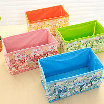 Multifunction Foldable Collapsible Canvas Fabric Storage Drawers Organizer Box