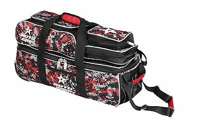 Bowling bag 3 Ball Scooter Roto Grip Triple Tote bag red/camouflage