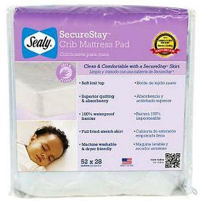 NEW Sealy Baby Snug-Fit Waterproof Super Absorbent Crib Mattress Pad Made in USA