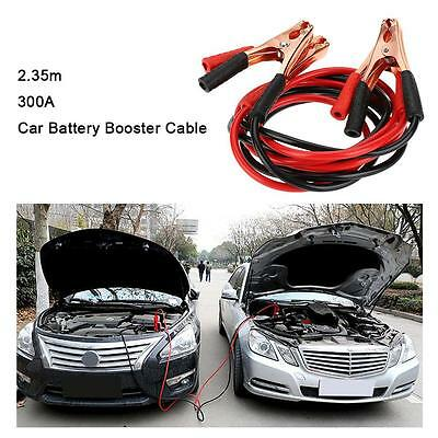 300A 2.35m/7.7Ft 10 Gauge Car Battery Booster Connection Jumper Cable HQ A9A8