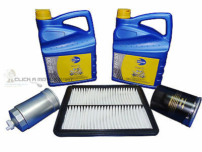 OIL AIR FUEL DIESEL FILTER & 10L 5W30 ENGINE OIL FOR KIA SORENTO 2.5 CRDi 02-06