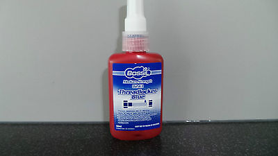 LARGE 50ml BOSSIL BS-8271 BLUE MEDIUM STRENGTH THREAD LOCK SIMILAR TO LOCTITE