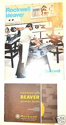 2 ROCKWELL BEAVER CATALOG 1978 & POWER TOOL CATALOG BE265 #RR51 woodworking