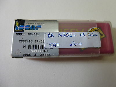 NEW Iscar MGSIL 08-06W Solid Carbide Boring Bar  8mm Dia. (Israel) (CT.1a.E.10)