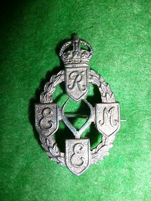 Royal Electrical & Mechanical Engineers Sterling Silver Sweetheart Pin Brooch