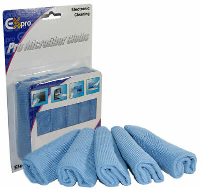 Ex-Pro® Professional Electronic Microfibre Cleaning Cloths x 5 LG - Sony TV LCD