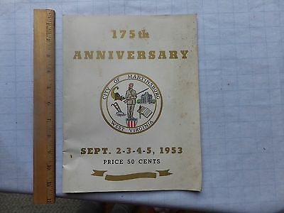 1953 Program -175th Anniversary of Martinsburg, West Virginia. Lots of local ads