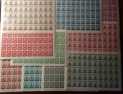 Afghanistan 1962 Dog Birds Sheep Animals 10v FULL SHEETS IMPERFS 50 SETS  #AFG01