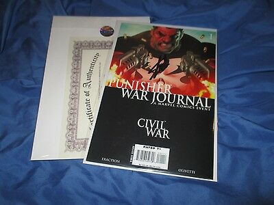 PUNISHER WAR JOURNAL #1 Signed/Autograph Comic by Stan Lee w/COA ~Movie/TV