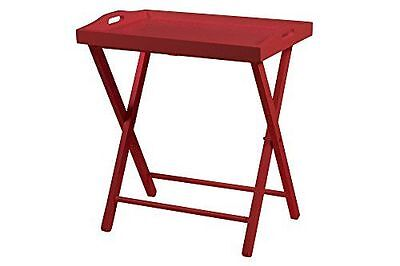 AC design furniture table 55722 marina avec tablette amovible, rouge NEUF