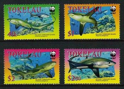 Tokelau - Wwf Issue: Pelagic Thresher Shark - Muh Set Of Four (Go209-Pb)