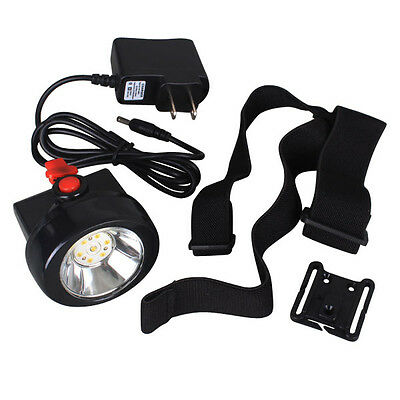 Mini Portable 3000LUX 1W LED Miner HeadLight Wireless Mining Cap Lamp Headtorch