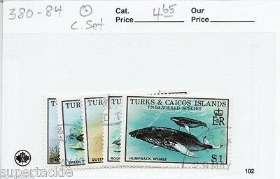 1979 Turks and Caicos Sc# 380-84 Θ used Endangered species postage stamp set