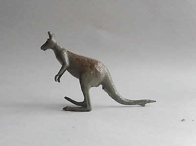 Vintage Britains Diecast/Metal Ornament. Grey Kangaroo.