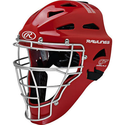 Rawlings Renegade Coolflo Hockey Style Teen/adult Catchers Helmet Chrngd Red