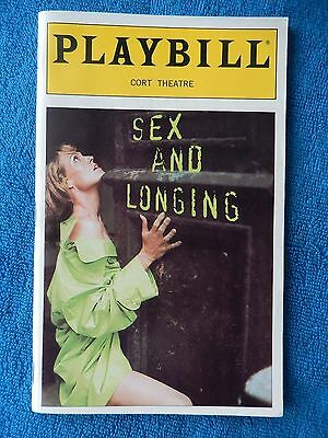 Sex And Longing - Cort Theatre Playbill w/Ticket - October 17th, 1996 - Weaver