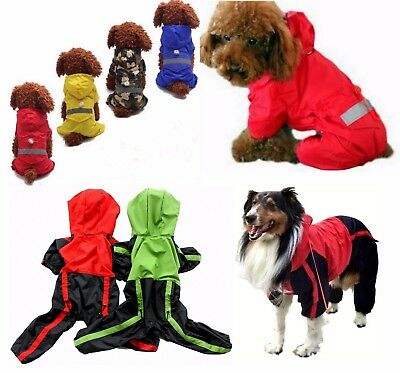 Dog water-resistant rain coat, trouser suit, clothes, mac SMALL to EXTRA LARGE