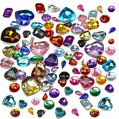 MIX GEMS Acrylic Crystal Stones Rhinestones Embellishment Gems Decoden Craft DIY