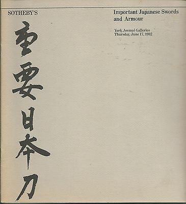SOTHEBY'S Important Japanese Sword Fittings Armour Auction Catalog 1982