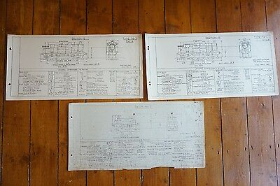 Section E Types Y & N Locomotive Loco Railway Technical Drawing x3