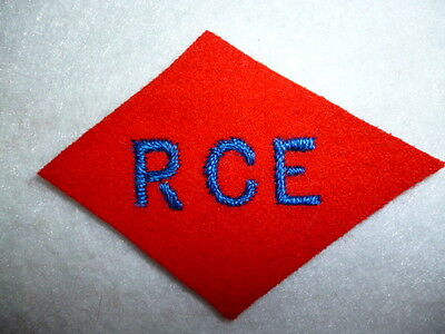 WW2, 1st Canadian Corps, CASF Div Patch : RCE Royal Canadian Engineers - Canada