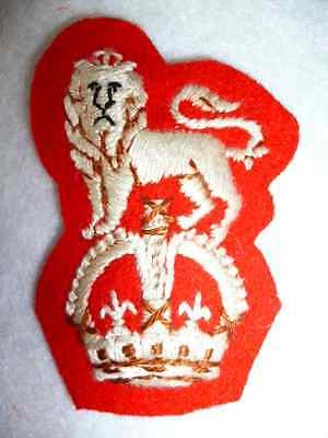 The 15th/19th Hussars NCO's Embroidered KC Arm Badge