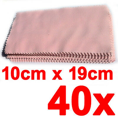 "10cm x 19cm ""Buckskin"" Jewelry Cleaning Polishing Cotton Cloth Sterling Silver"
