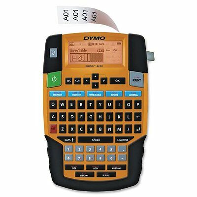 Dymo Rhino 4200 Label Maker for Security and Pro A/V - Label, Vinyl, Tape -