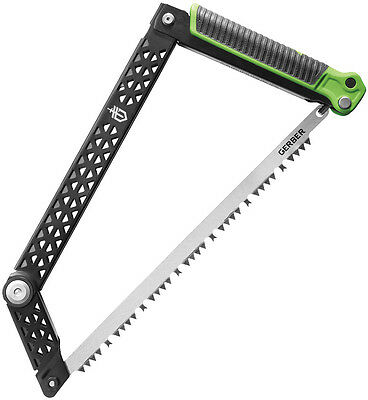 "Gerber Freescape Camp Saw Knife 31-002820 14"" closed. 12"" stainless standard saw"