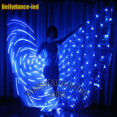 LED isis wings 182 lights rechargeable belly dance light up costume dancer stick