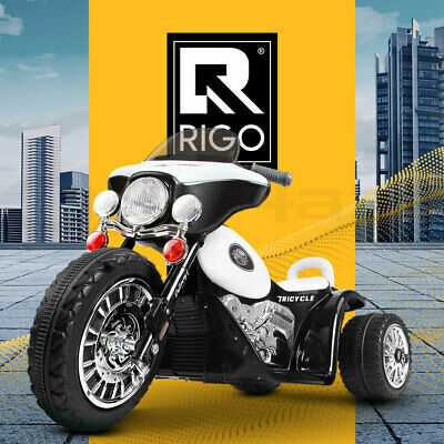 RIGO Kids Ride-On Motorbike Motorcycle Harley Style Electric Toy Battery Police