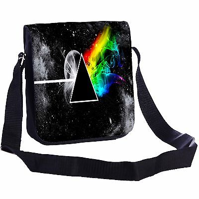 Stylized The Dark Side Of The Moon Small Cross-Body Shoulder Bag Handy Size
