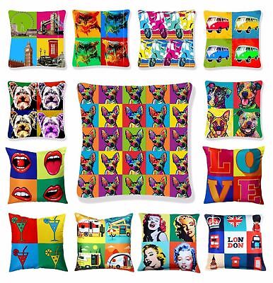 Luxury Cushion Covers Retro Pop Art Design Digital Printed Square Pillow Case