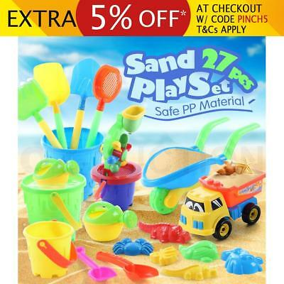 Kids Water & Sand Outdoor Children Activity Play Toys Sandpit Toy Set 27Pcs