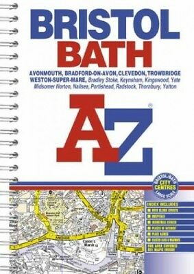 A-Z Bristol and Bath Atlas (A-Z Street Maps & Atlases) Spiral bound Book The