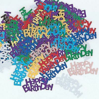 Happy Birthday Multicoloured Confetti Sprinkles Table Decoration 14g for 2 table