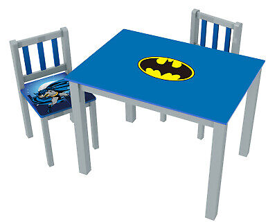 Tremendous Okids Inc Batman Kids 3 Piece Rectangle Table And Chair Machost Co Dining Chair Design Ideas Machostcouk