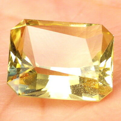 GOLDEN BERYL-BRAZIL 8.63Ct LARGE-TOP COLLECTOR GRADE-NATURAL UNTREATED-INVESTM.!